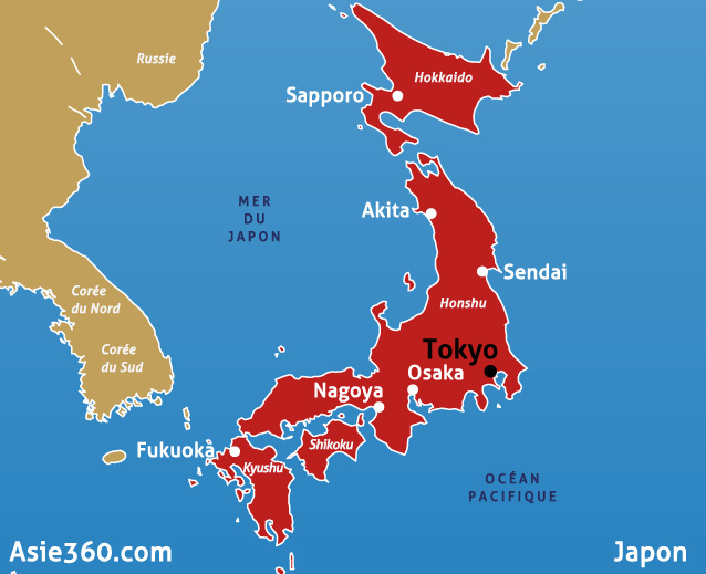 japon carte asie - Photo
