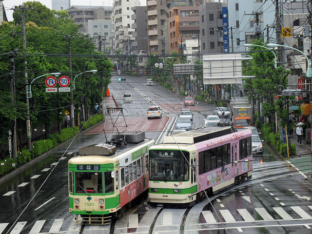 Tramways au Japon