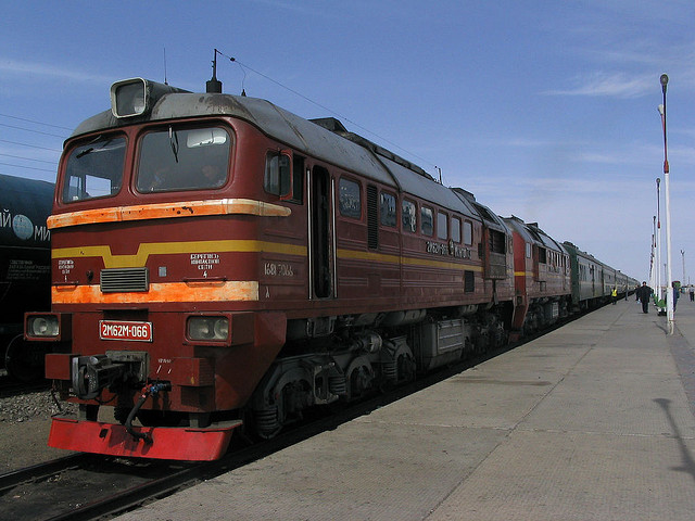 Train en Mongolie