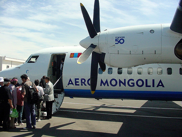 Avion en Mongolie
