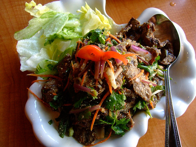 recette lap sine gnoua salade de boeuf la fa on laotienne recettes asiatiques restaurants. Black Bedroom Furniture Sets. Home Design Ideas