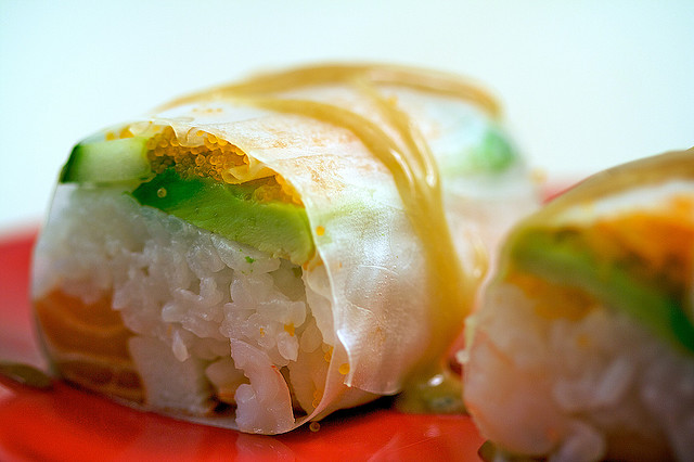 how to make sushi roll without seaweed