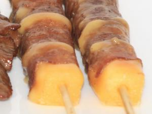 Recette Brochettes Yakitori boeuf-fromage