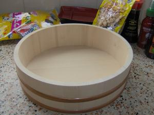Ustensile Bassine en bois pour sushi